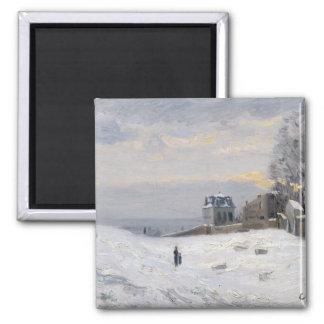 Nieve en Montmartre 1869 Imán Para Frigorifico