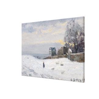 Nieve en Montmartre 1869 Impresión En Lona Estirada