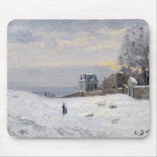 Nieve en Montmartre 1869 Tapete De Raton