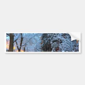 Nieve en Montreal Pegatina Para Auto