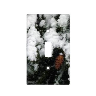 Nieve en pino tapa para interruptor