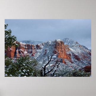 Nieve en Sedona Arizona 2812 Posters