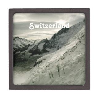 Nieve en Suiza Cajas De Regalo De Calidad