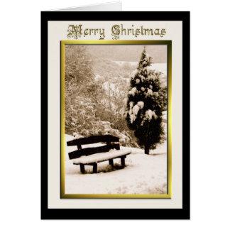 Nieve en tarjeta de felicitación del navidad del b