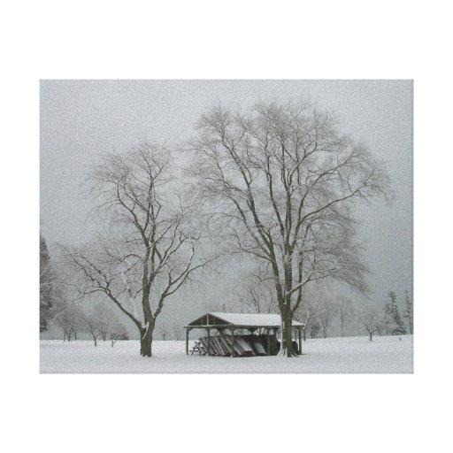 Nieve-escena Secreto-Hivernal Lona Estirada Galerias