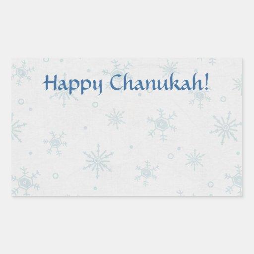 Nieve feliz de Chanukah Rectangular Altavoz