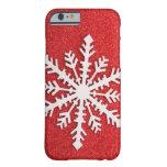 Nieve festiva del día de fiesta funda de iPhone 6 barely there