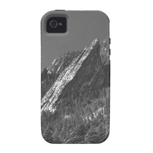 Nieve Flatirons sacado el polvo polvo Boulder CO Vibe iPhone 4 Funda