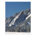 Nieve Flatirons sacado el polvo polvo Boulder Colo Plantillas De Membrete