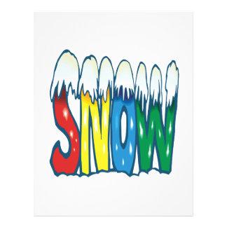 Nieve Flyer A Todo Color