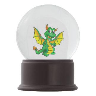 Nieve-globo feliz del dragón bola de nieve