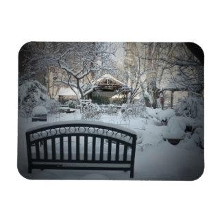 Nieve hermosa decorativa - país de las maravillas  imanes flexibles