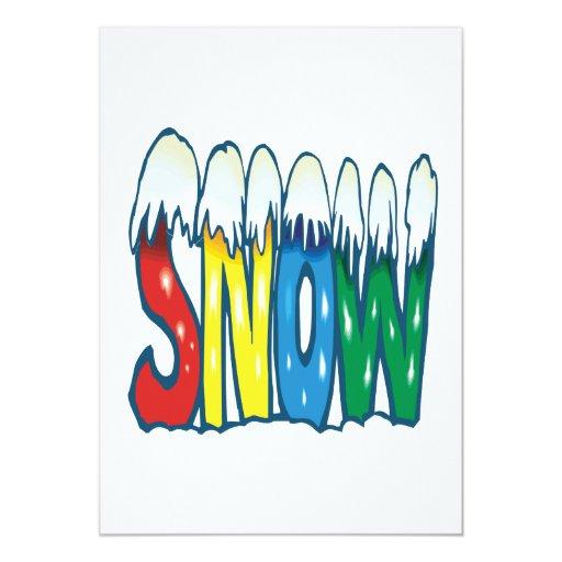 Nieve Invitación 12,7 X 17,8 Cm