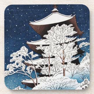 Nieve japonesa oriental fresca del invierno de Kaw Posavasos De Bebida