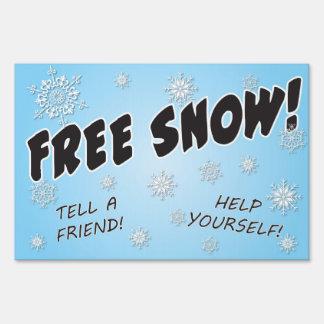 ¡Nieve libre! Señal