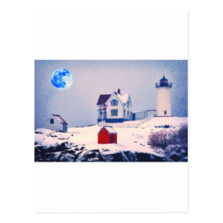 Nieve ligera de Neddick del cabo Postales