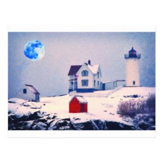 Nieve ligera de Neddick del cabo Tarjetas Postales