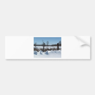 Nieve majestuosa etiqueta de parachoque