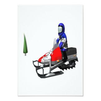 """Nieve Mobiling Invitación 5"""" X 7"""""""