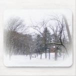 Nieve Mousepad. de la mansión del mayordomo Tapete De Ratón