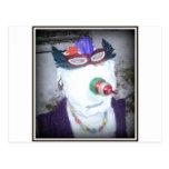 nieve-mujer tarjeta postal