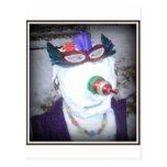 nieve-mujer tarjetas postales
