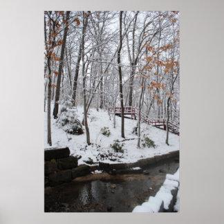 Nieve pegajosa del invierno poster