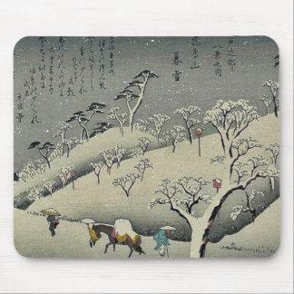 Nieve persistente en Asukayama por Ando, Hiroshige Tapete De Raton