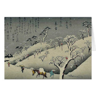 Nieve persistente en Asukayama por Ando, Hiroshige Felicitación