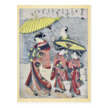 Nieve por Suzuki, Harunobu Ukiyoe Postales