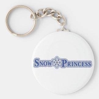 Nieve-Princesa-Luz Llavero Redondo Tipo Pin