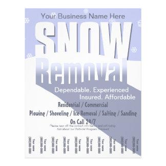 """Nieve que ara servicio. Negocio del retiro Folleto 8.5"""" X 11"""""""