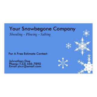 Nieve que ara, tarjeta de visita del retiro (BL HO
