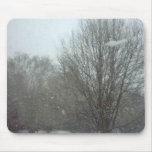 Nieve que cae alfombrilla de raton