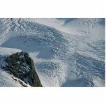 Nieve rasguñada esculturas fotograficas
