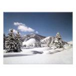 Nieve recientemente caida impresion fotografica