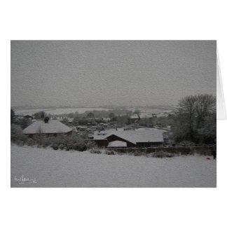Nieve sobre las asignaciones, Harthill con Tarjeta De Felicitación