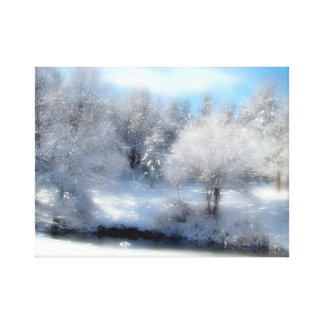 Nieve surrealista lona estirada galerias