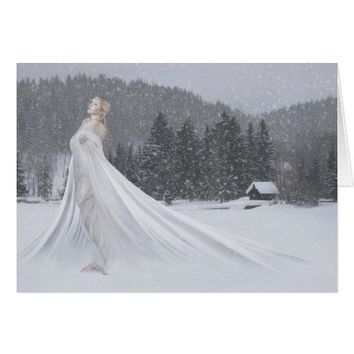 Nieve Tarjeta De Felicitación