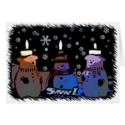 ¡Nieve! Tarjeta de Navidad del dibujo animado