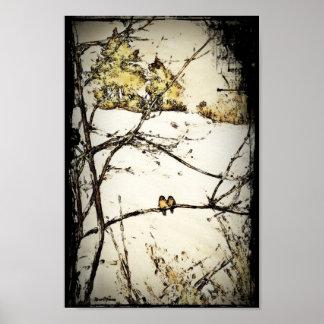 Nieve y frío del invierno posters