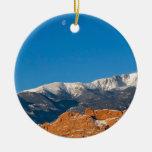 Nieve y luna ornamentos de navidad