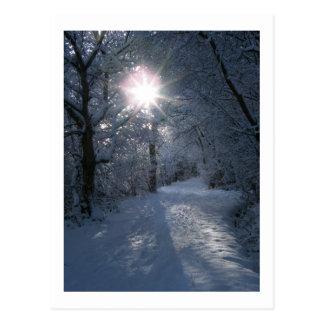 Nieve y luz postal