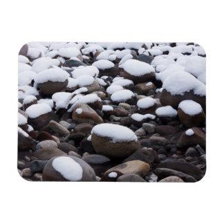Nieve y rocas parque nacional del Monte Rainier Imanes Flexibles