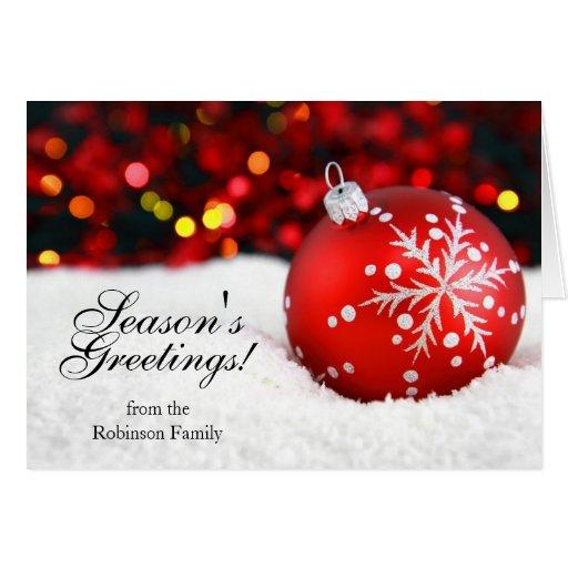 Nieve y tarjetas de Navidad personalizadas chispa