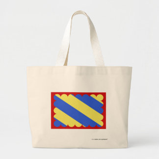 Nièvre flag large tote bag