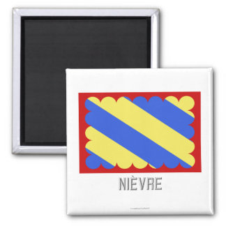Nièvre flag with name magnet