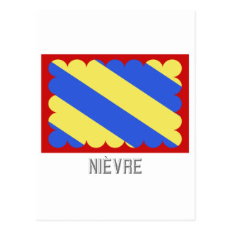 Nièvre flag with name postcard