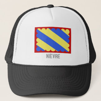 Nièvre flag with name trucker hat