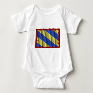Nièvre waving flag baby bodysuit
